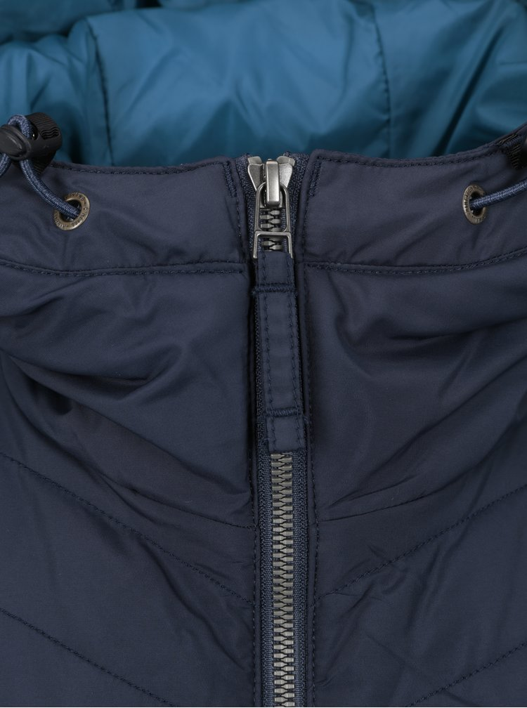 Tmavě modrá prošívaná vodoodpudivá bunda O'Neill