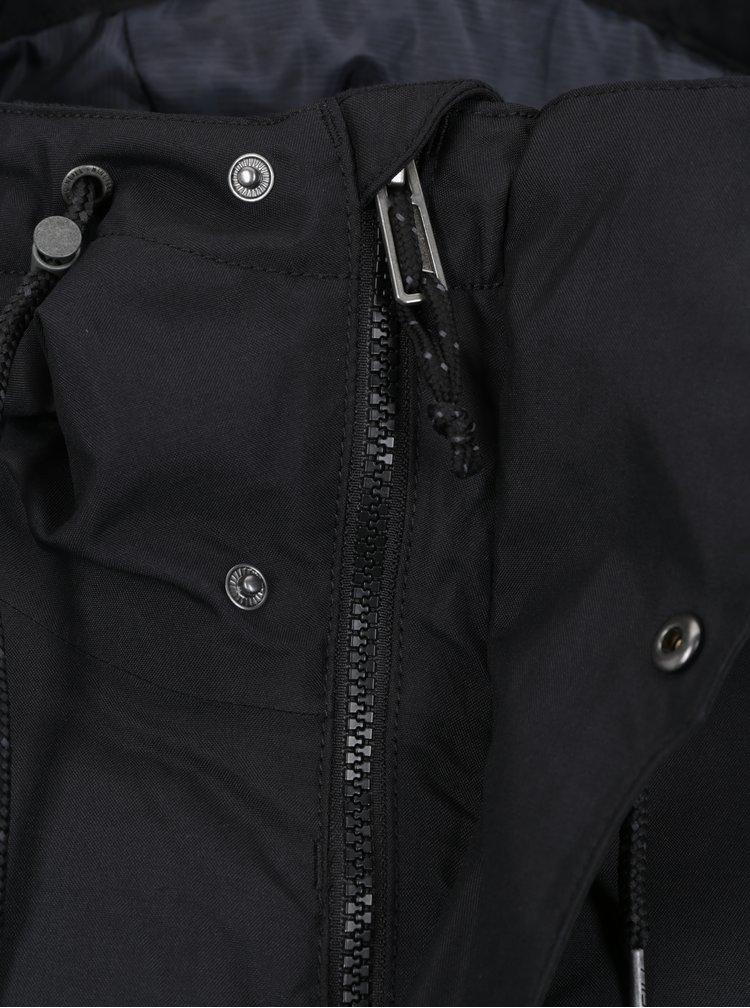 Černá voděodolná funkční bunda s potiskem na zádech O'Neill