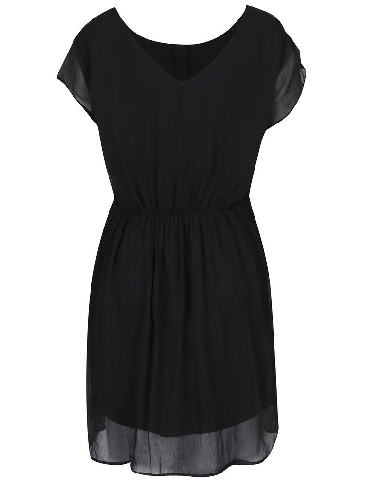 Černé šaty s kulatým výstřihem VERO MODA Lisa