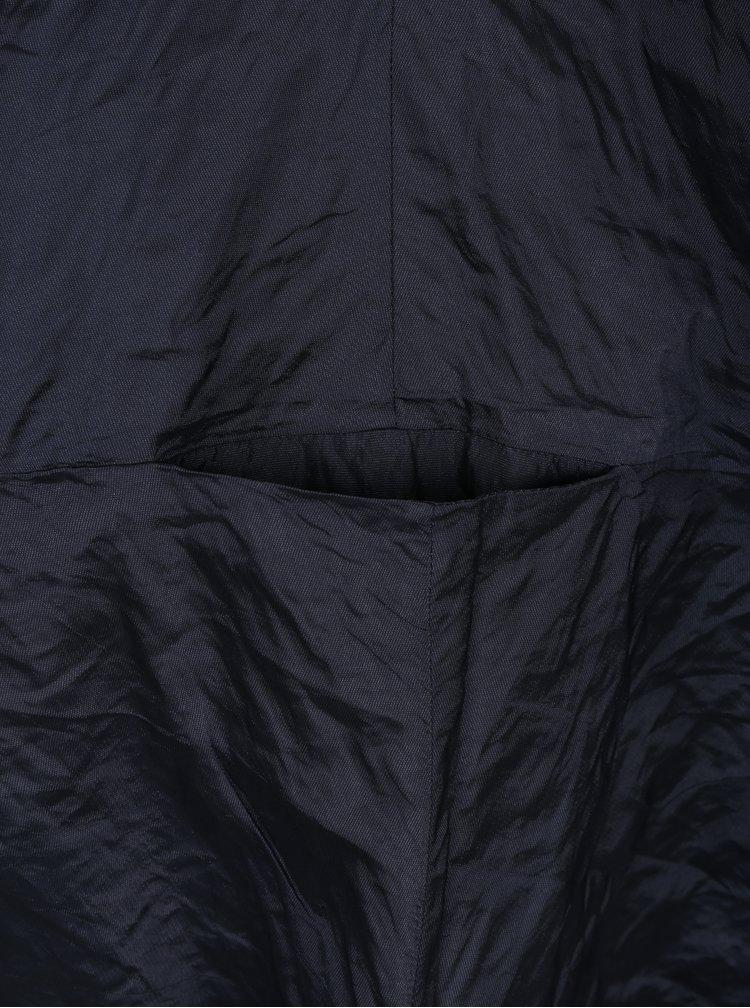 Tmavě modré třpytivé balónové šaty s kapsami Bianca Popp