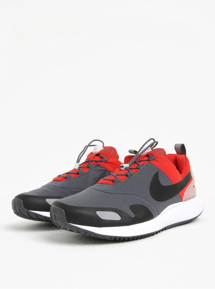 Pantofi sport gri cu rosu barbatesti pentru iarna Nike Air Pegasus AT