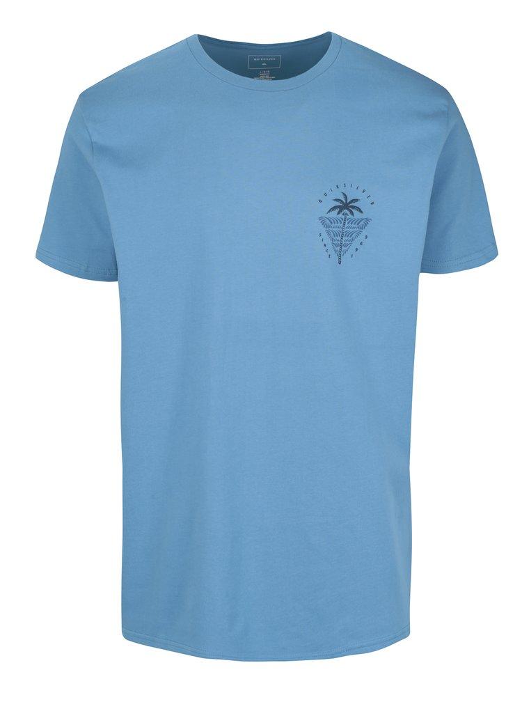 Modré pánské tričko s potiskem na zádech Quiksilver Sust East Palm Break