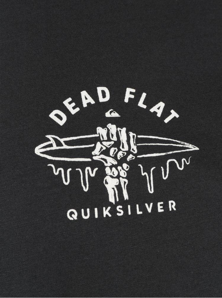 Tricou negru modern fit cu print pentru barbati - Quiksilver Garment Dye Dead Flat