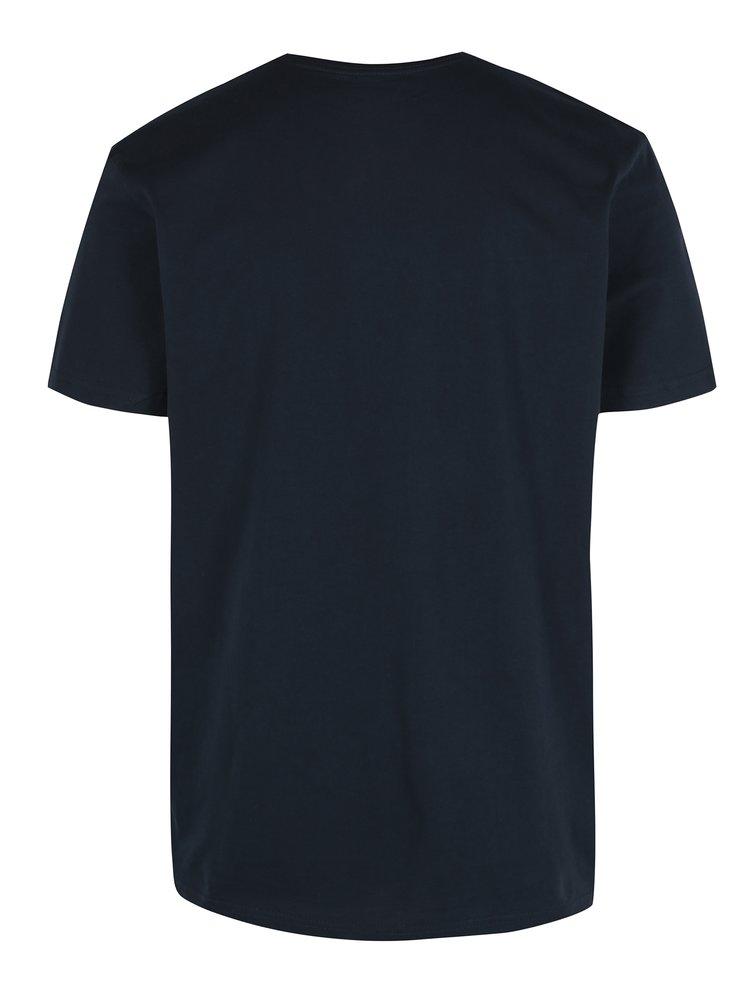 Tmavě modré pánské regular fit tričko s potiskem Quiksilver Pleasure Zone