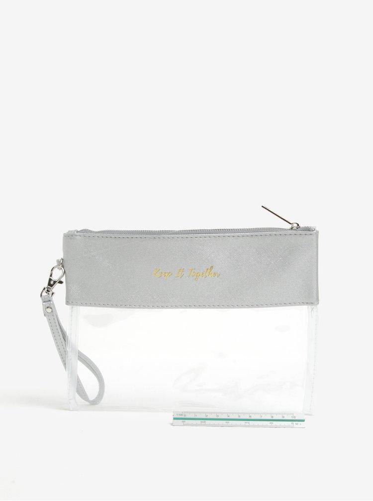 Transparentní kosmetická taštička s potiskem CGB