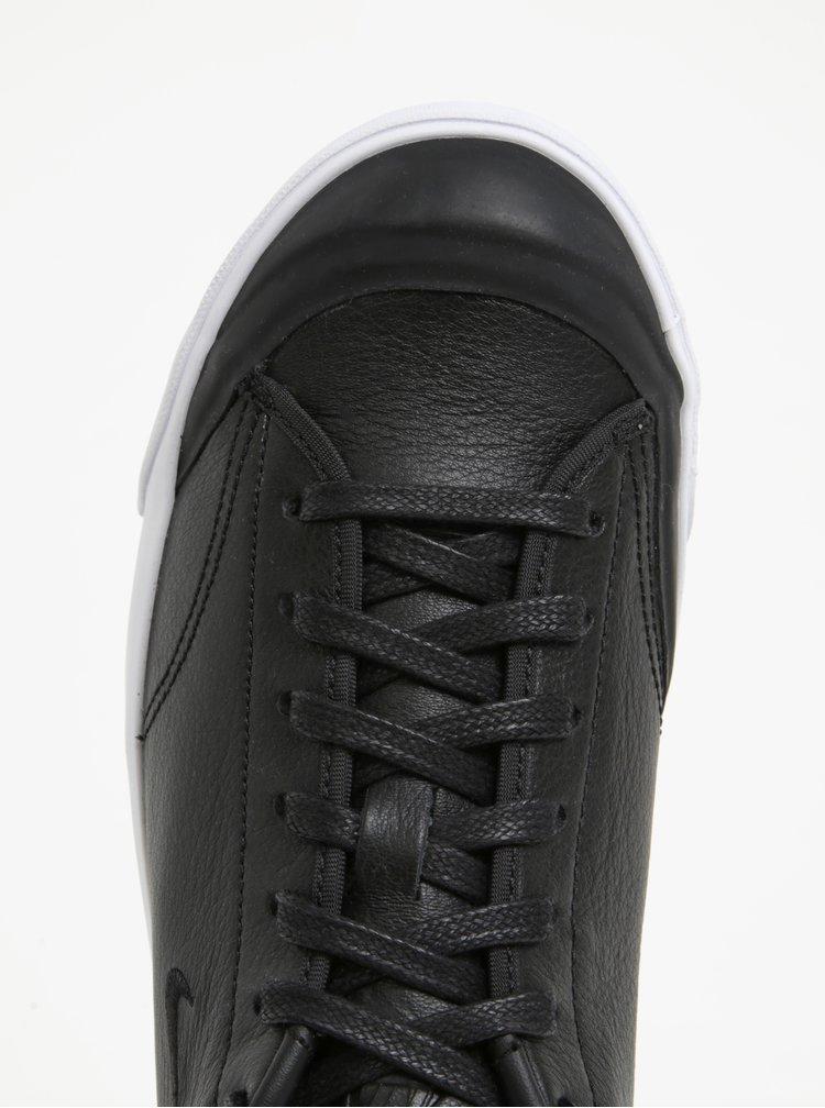 Černé pánské kožené tenisky Nike All Court 2 Low