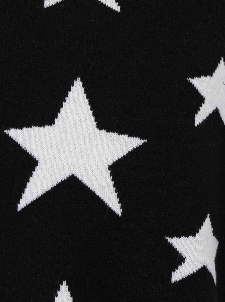 Pulover negru cu umeri cazuti si stelute albe - Jacqueline de Yong Noel