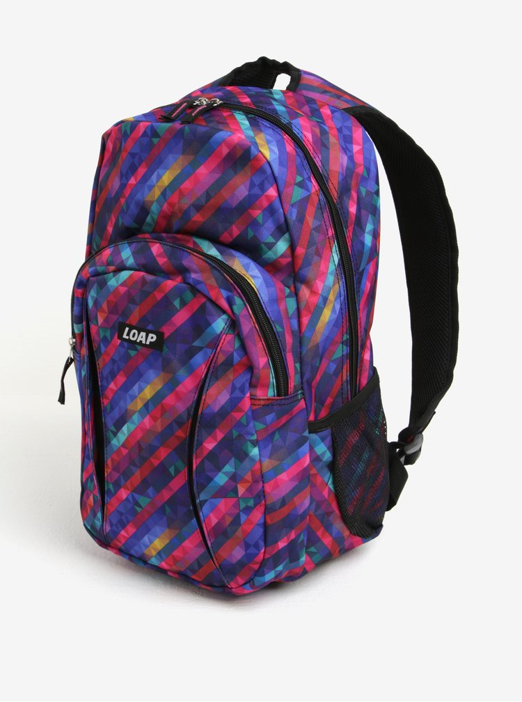 Fialový dámský vzorovaný batoh LOAP Asso 20 l