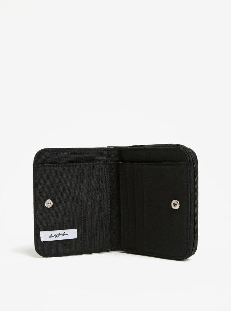 Fialová dámská vzorovaná peněženka NUGGET Leticia
