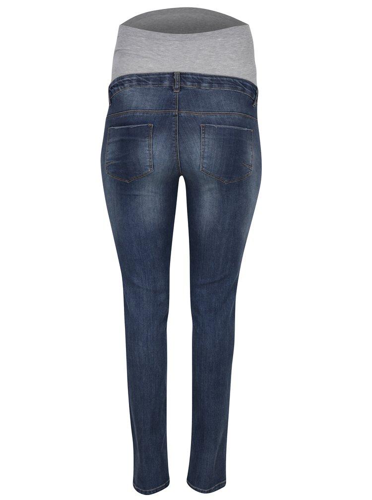 Modré těhotenské slim džíny s opraným efektem Mama.liciousFreedom