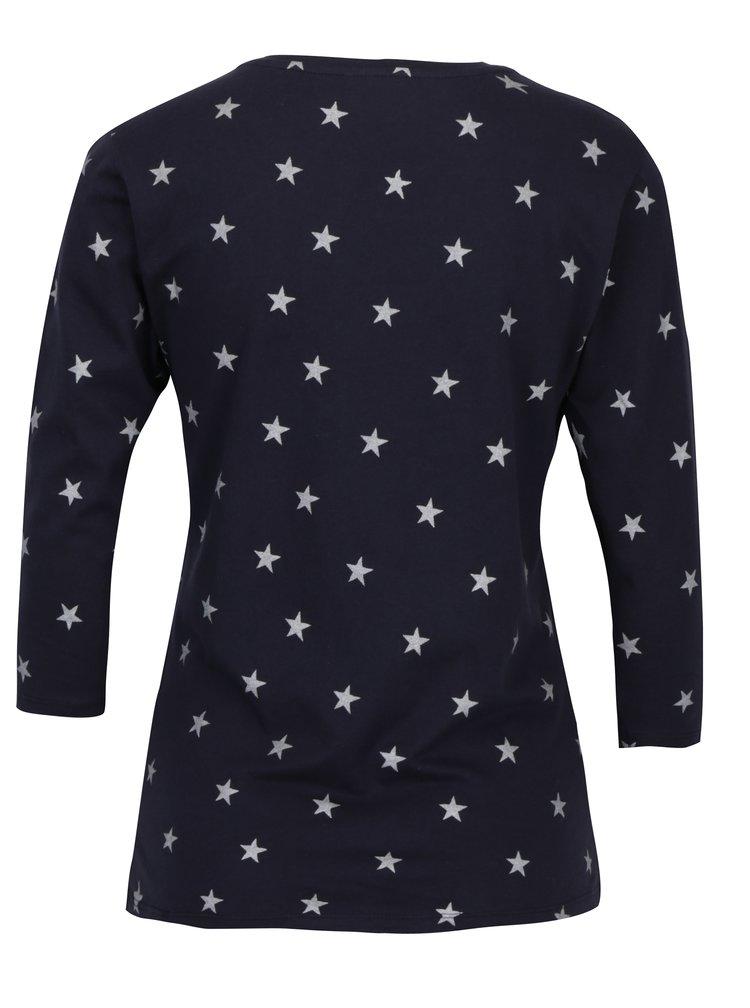 Bluza bleumarin&argintiu cu print stele ONLY Bone