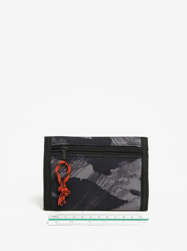 Portofel negru cu print abstract pentru barbati - NUGGET Renegade
