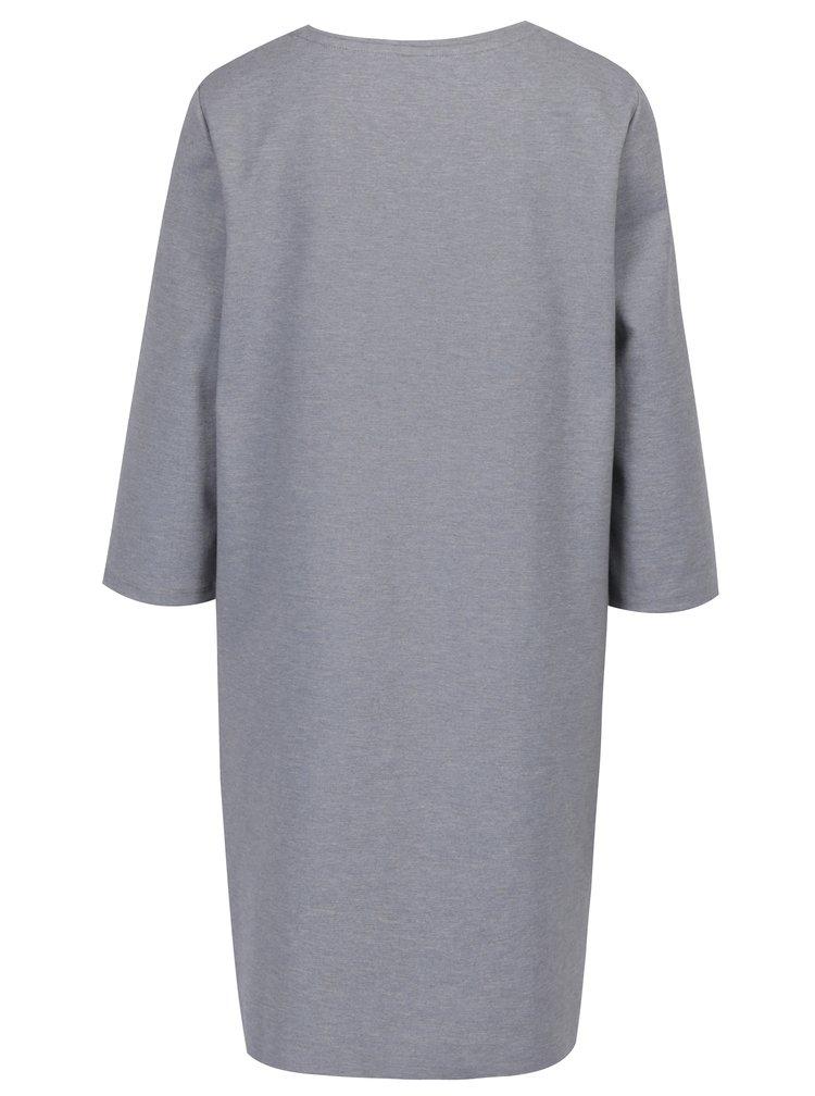 Šedé žíhané mikinové šaty ONLY Nadia