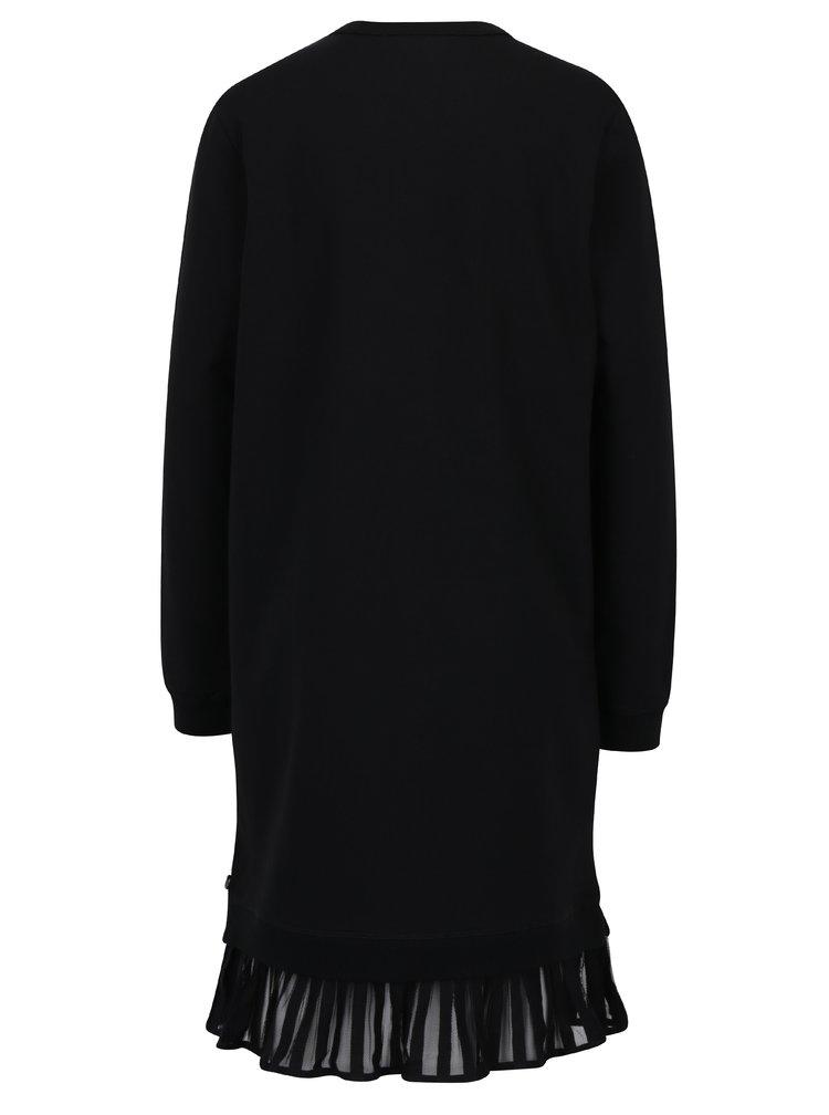 Černé mikinové šaty s volánem Scotch & Soda