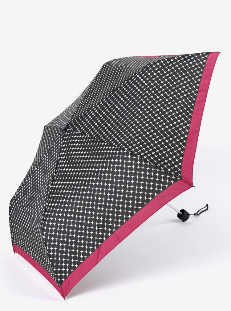 Umbrela neagra pliabila cu print pentru femei - Doppler