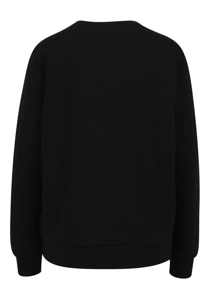 Bluza sport neagra cu aplicatie brodata multicolora - Scotch & Soda