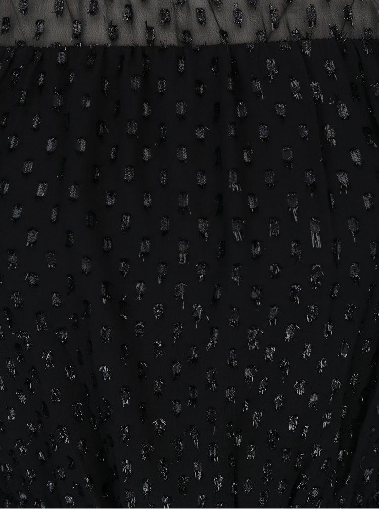 Rochie neagra cu model si dublura translucida - ONLY Lieke