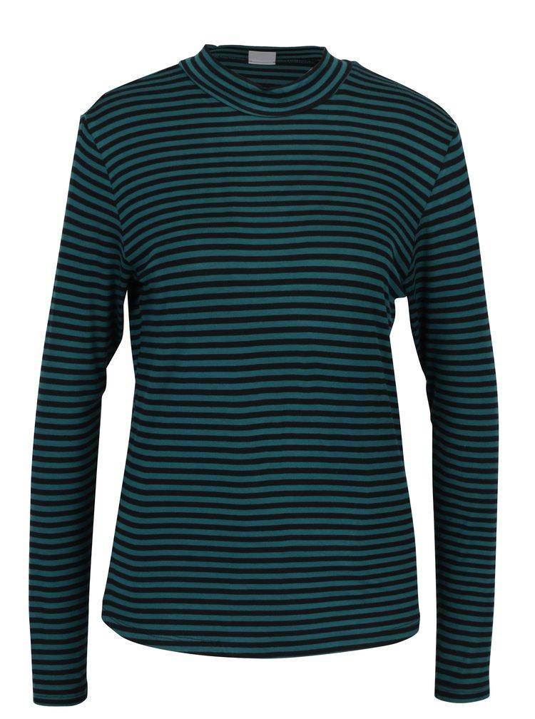 Zelené pruhované tričko Jacqueline de Yong Spirit