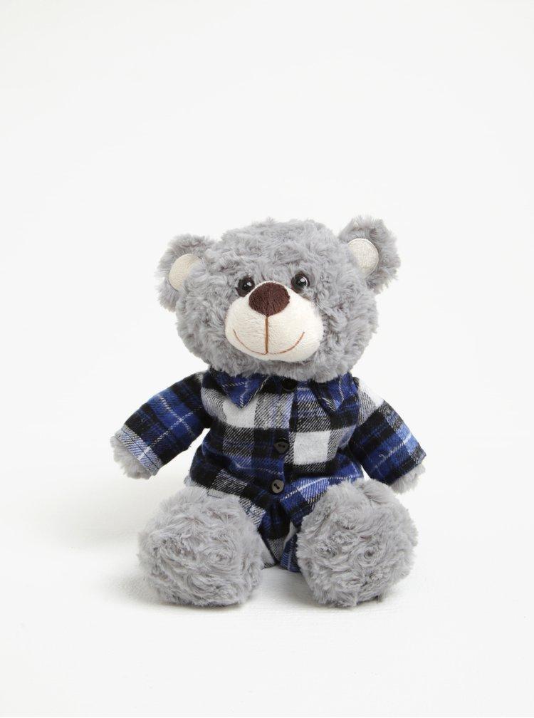 Ursulet gri calduros cu camasa si miros de lavanda - Something Special