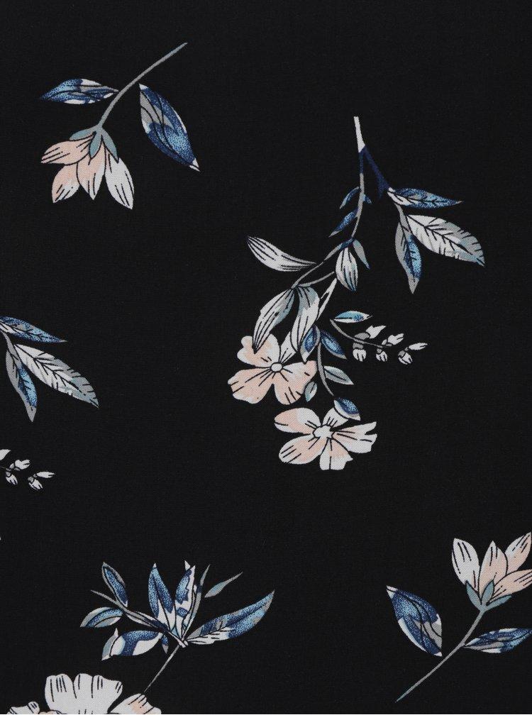 Černá květovaná halenka ONLY Mesa