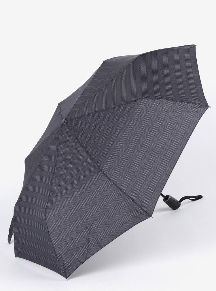 Umbrela gri pliabila cu print pentru barbati - Doppler