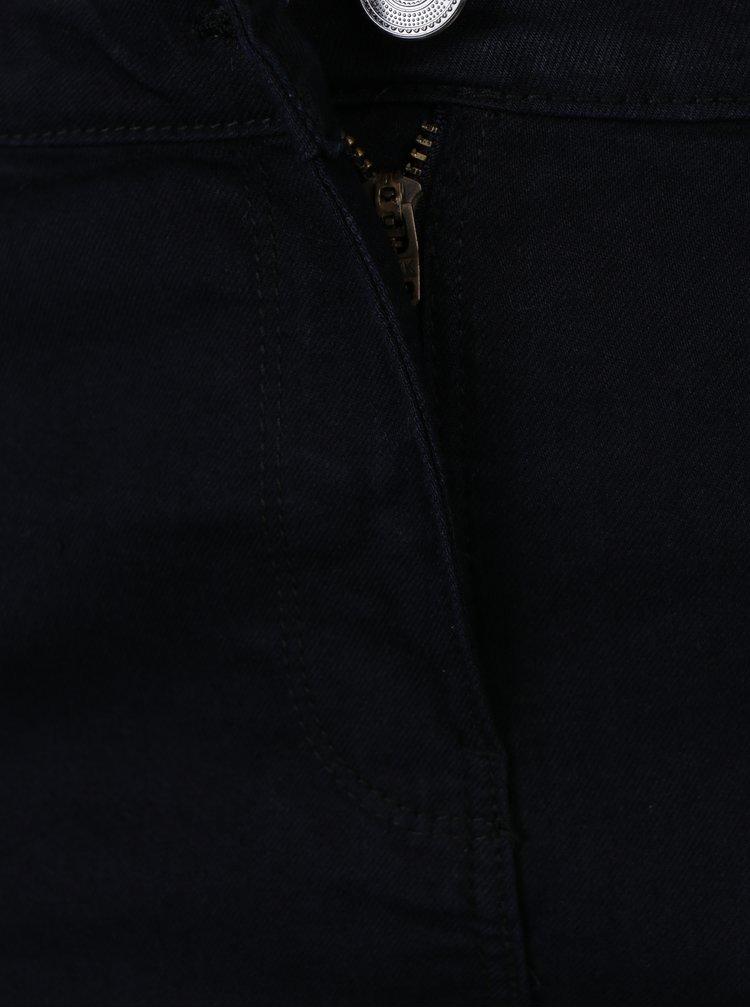 Tmavě modré dámské džíny s vysokým pasem M&Co