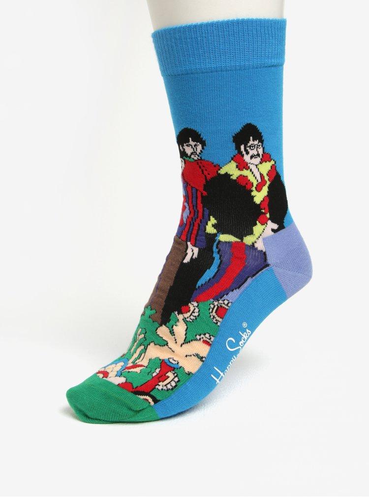 Zeleno-modré unisex ponožky Happy Socks Pepperland