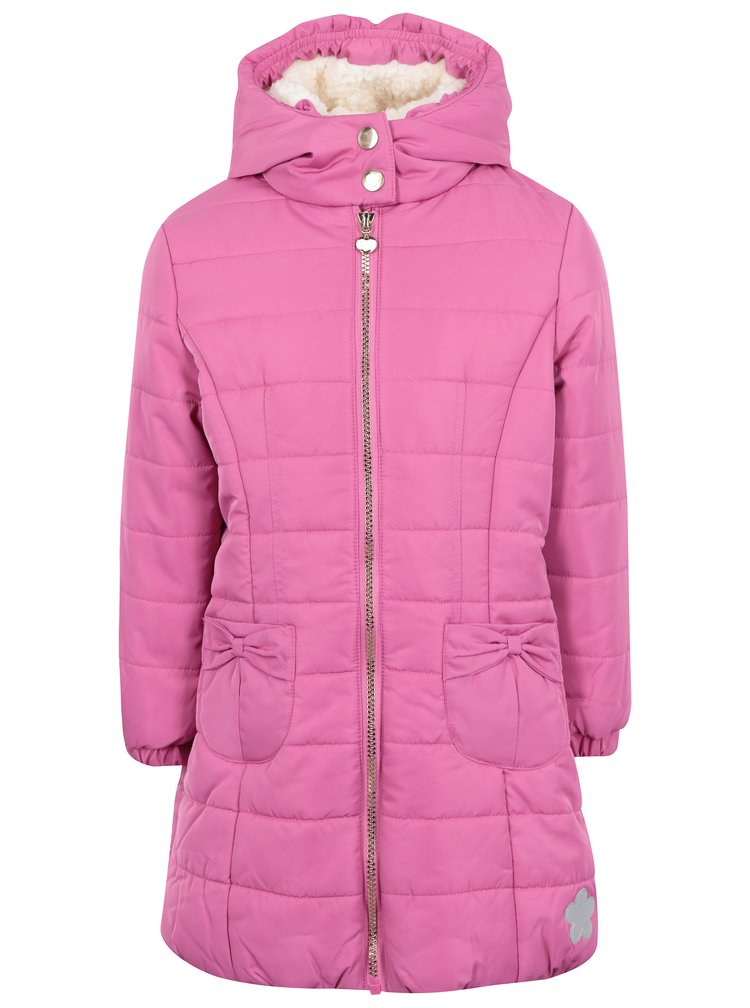 Růžový holčičí voděodolný zimní prošívaný kabát 5.10.15.