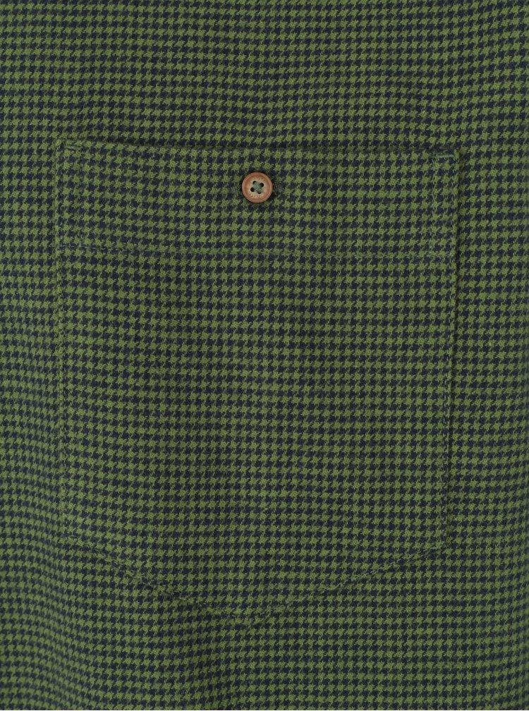 Camasa casual cu guler buttons down si model houndstooth - JP 1880