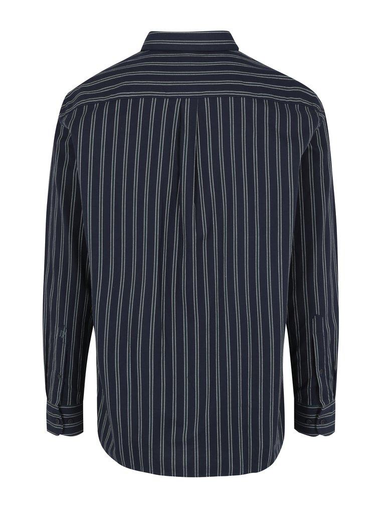 Tmavě modrá pruhovaná comfort fit košile JP 1880