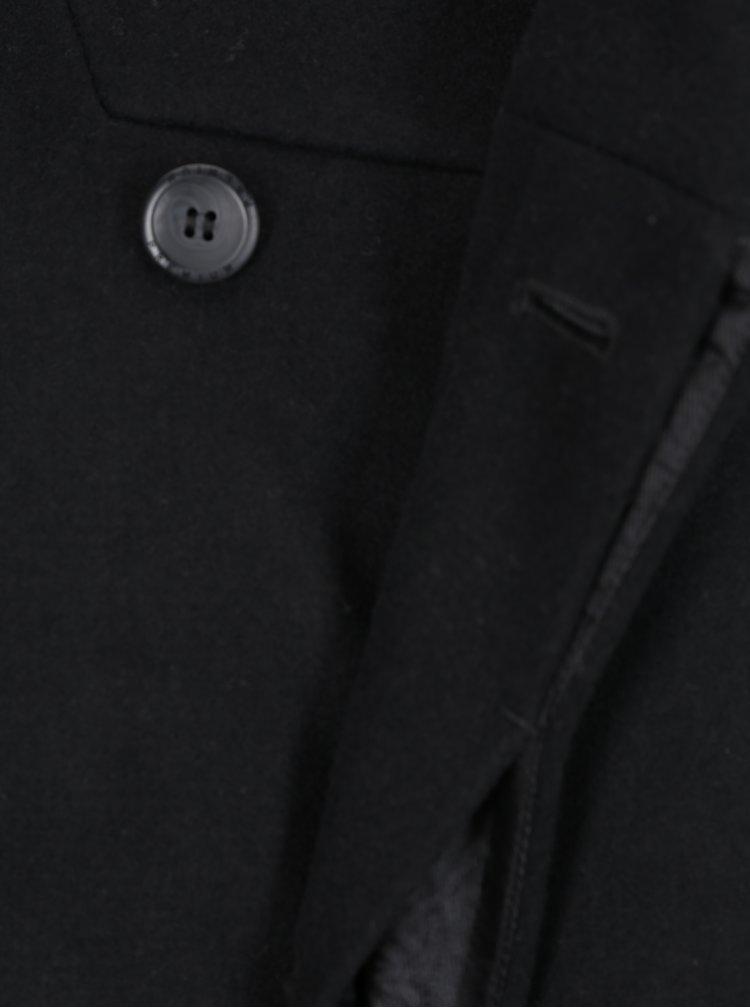 Černý vlněný kabát Jack & Jones Gotham