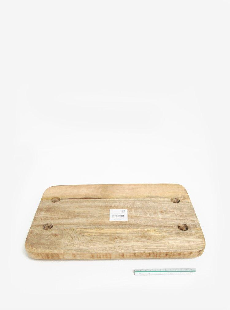 Tava din lemn cu manere din iuta - SIFCON