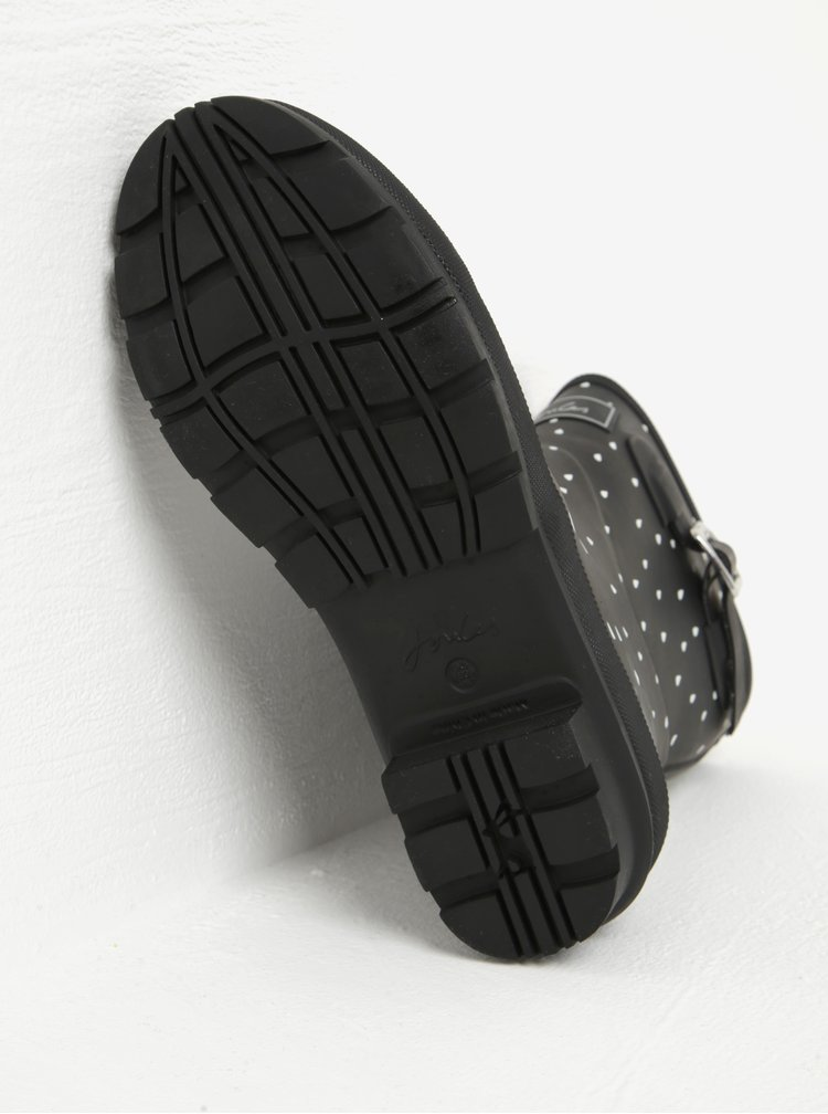 Cizme negre de cauciuc cu print - Tom Joule MollyWelly