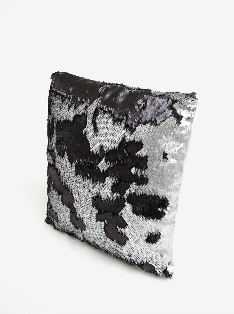 Perna cu paiete negre & argintii glossy - Dakls