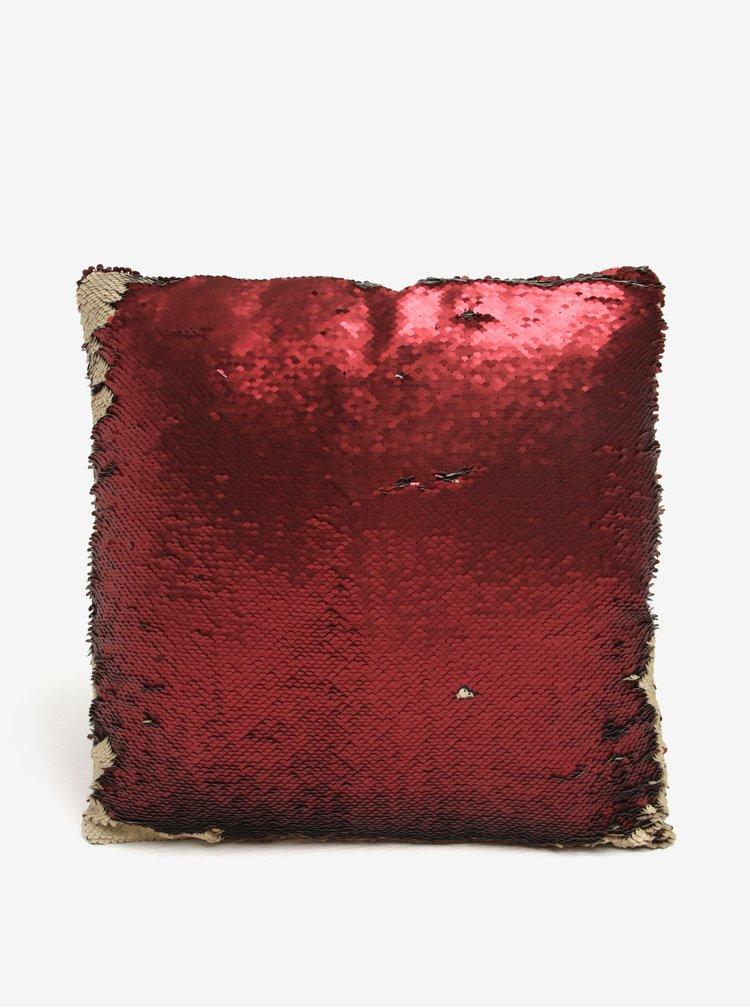 Perna cu paiete crem & rosu glossy - Dakls
