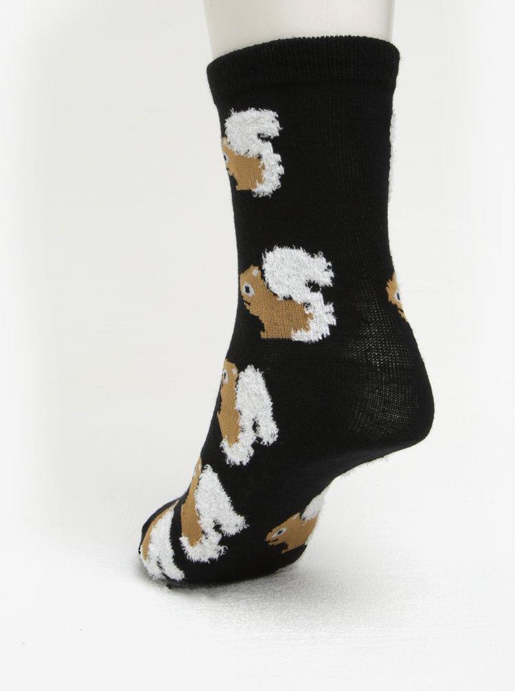 Sada dvou párů vzorovaných ponožek v černé a šedé barvě ONLY Lynn