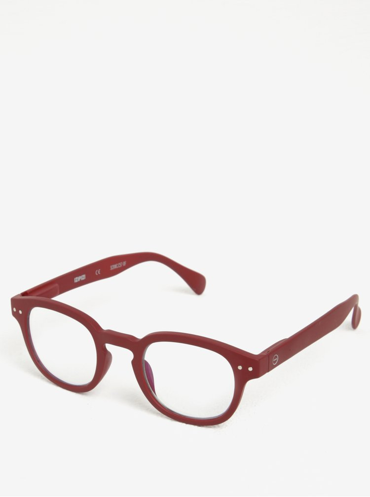 Vínové dámské ochranné brýle k PC IZIPIZI  #C