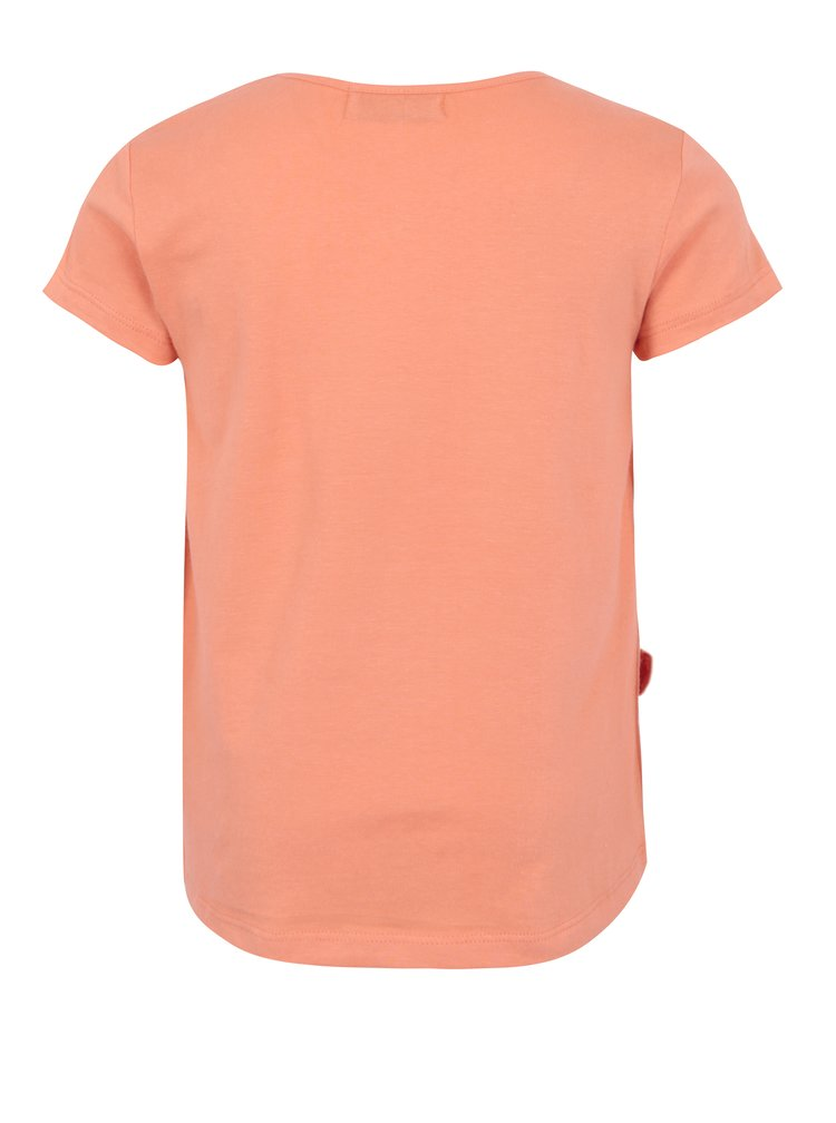 Oranžové holčičí tričko s bambulkami 5.10.15.