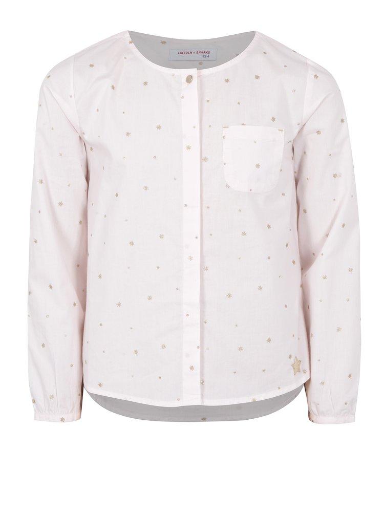 Růžová holčičí třpytivá košile s dlouhým rukávem 5.10.15.
