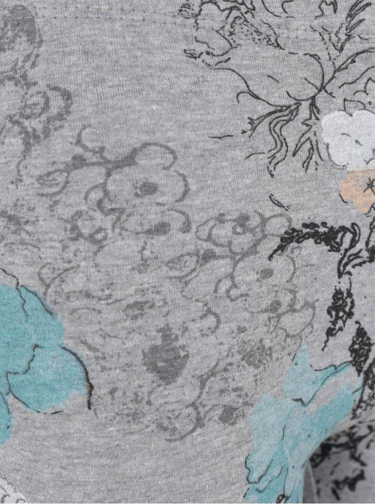 Světle šedé vzorované holčičí legíny 5.10.15.
