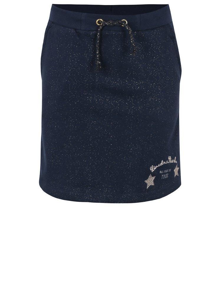 Tmavě modrá holčičí třpytivá tepláková sukně 5.10.15.