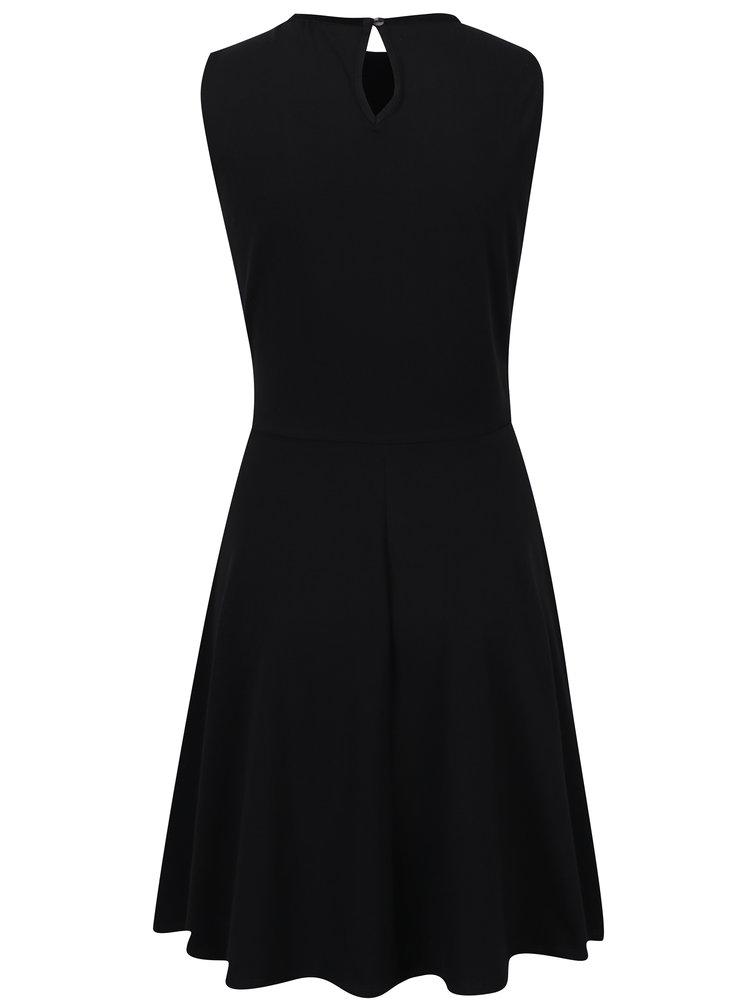 Černé šaty s krajkovou částí Dorothy Perkins
