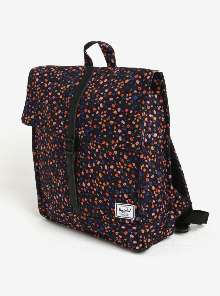 Černý květovaný batoh Herschel 10,5 l