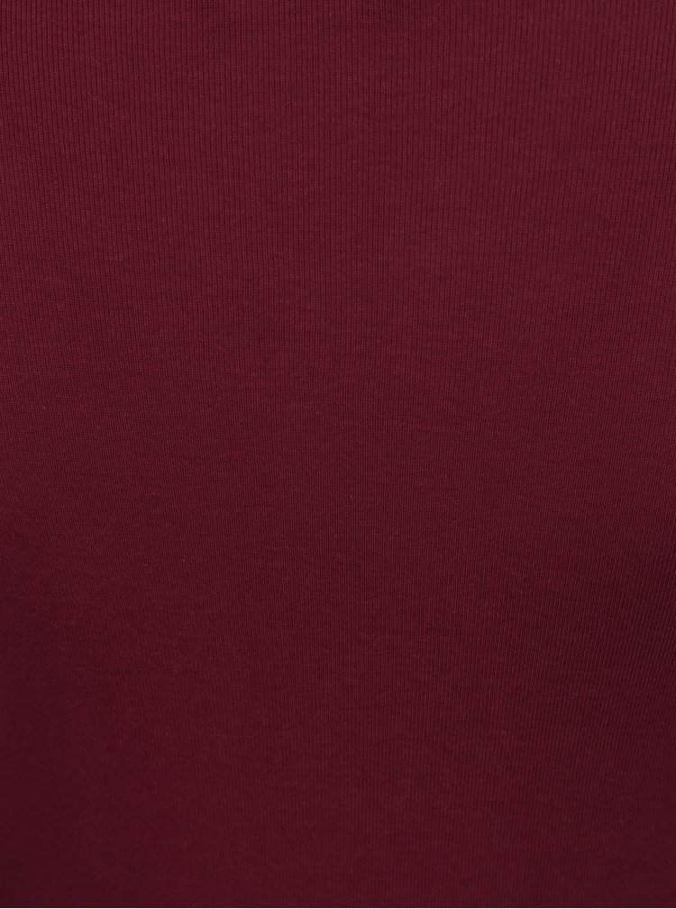 Bluza lunga bordo cu decolteu rotund -Dorothy Perkins Tall