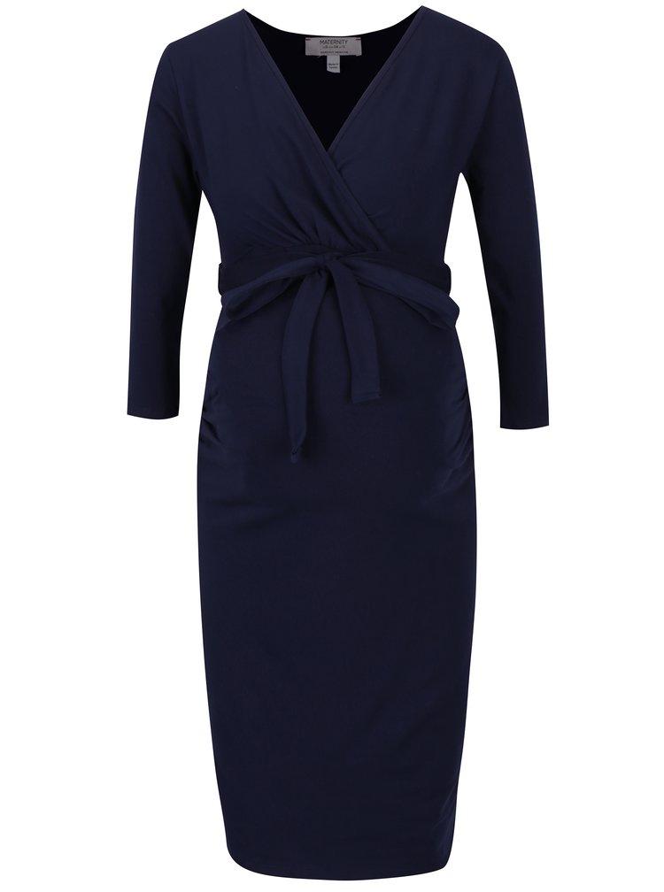 Tmavě modré těhotenské/kojicí šaty Dorothy Perkins Maternity