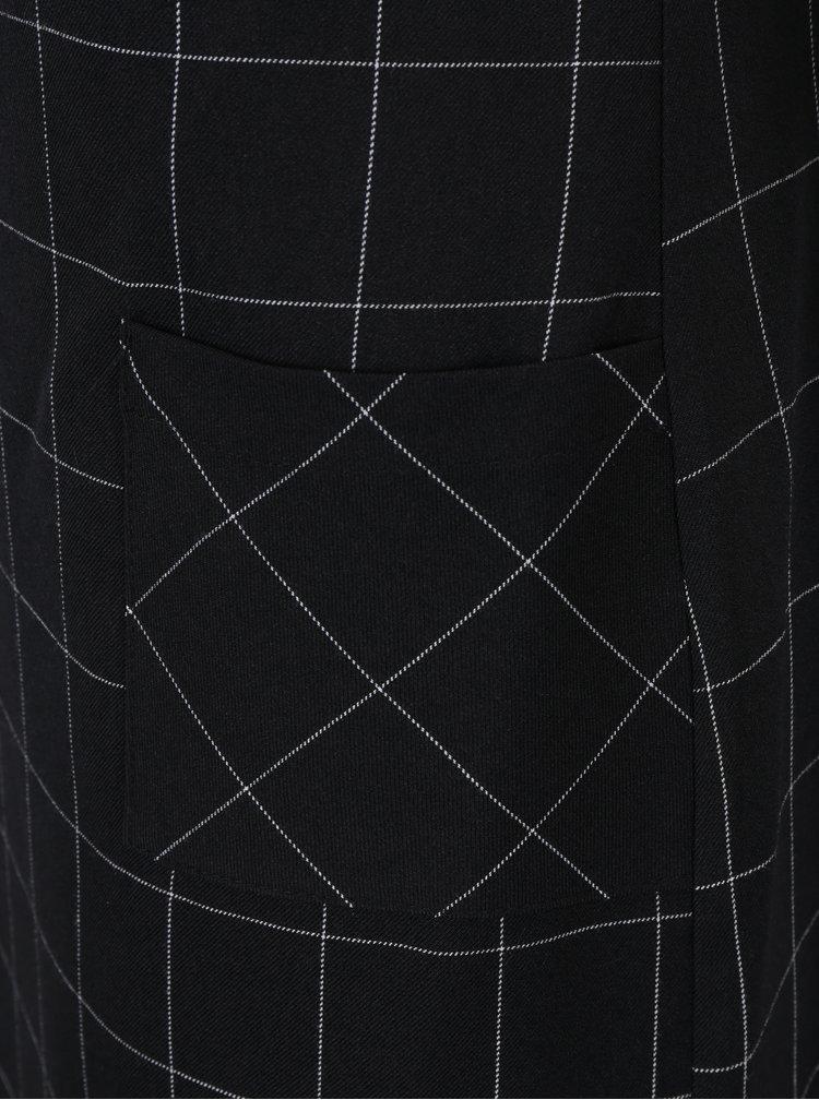 Černé kostkované šaty s kapsami Dorothy Perkins