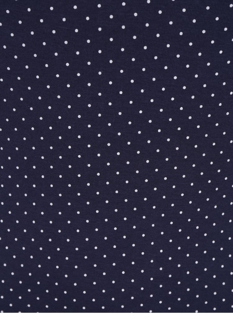 Tmavě modré puntíkované tričko s 3/4 rukávem M&Co