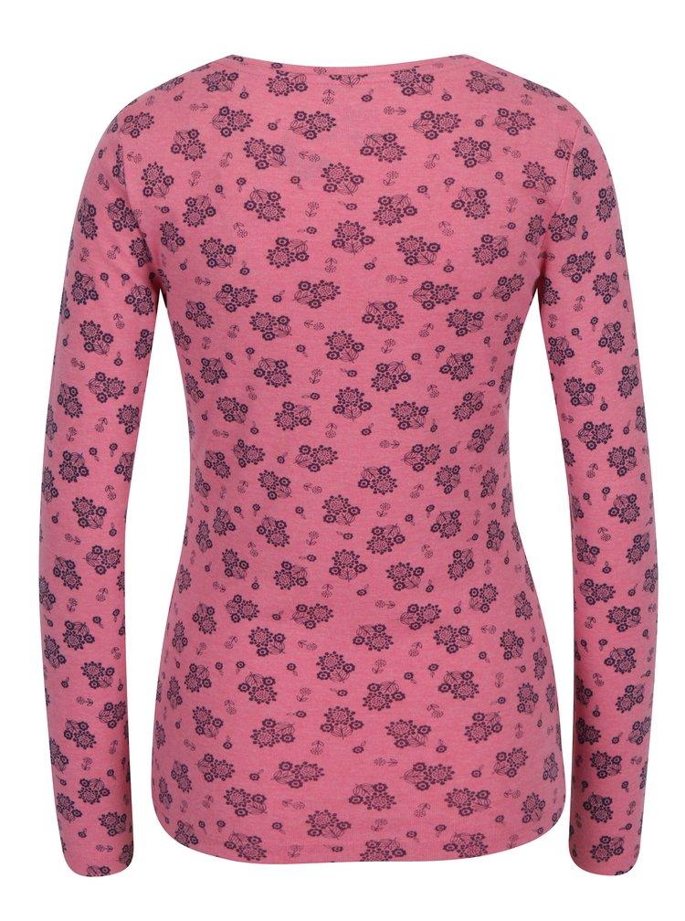 Bluza roz cu print floral si decolteu dreptunghiular  M&Co