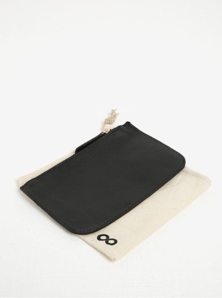 Černá kožená kosmetická taštička ZOOT