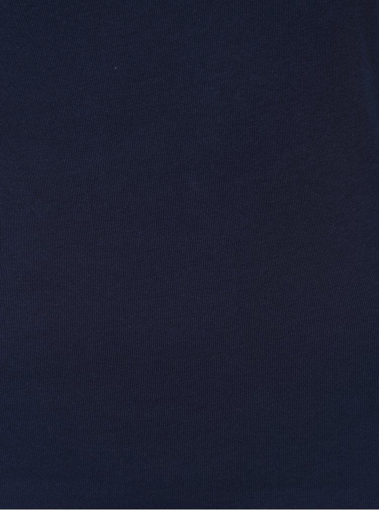 Bluza basic bleumarin cu decolteu rotund M&Co